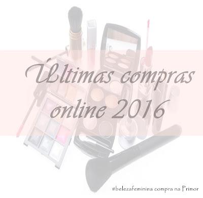 Últimas compras online de 2016, com a Primor