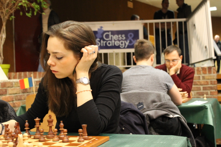 La joueuse russe Dina Belenkaya à l'Open de Cappelle 2016 - Photo © Chess & Strategy