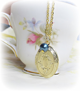 image gold locket necklace navy pearl mr darcy jane austen pride and prejudice