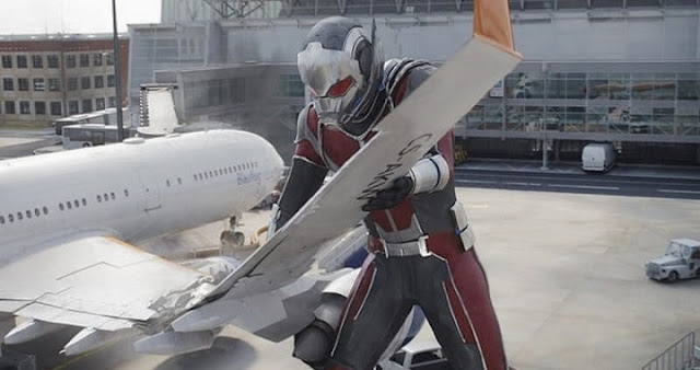 Ant-Man gigante en Captain America: Civil War