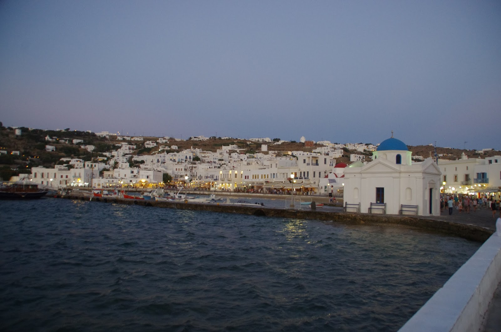 Mykonos Town from water