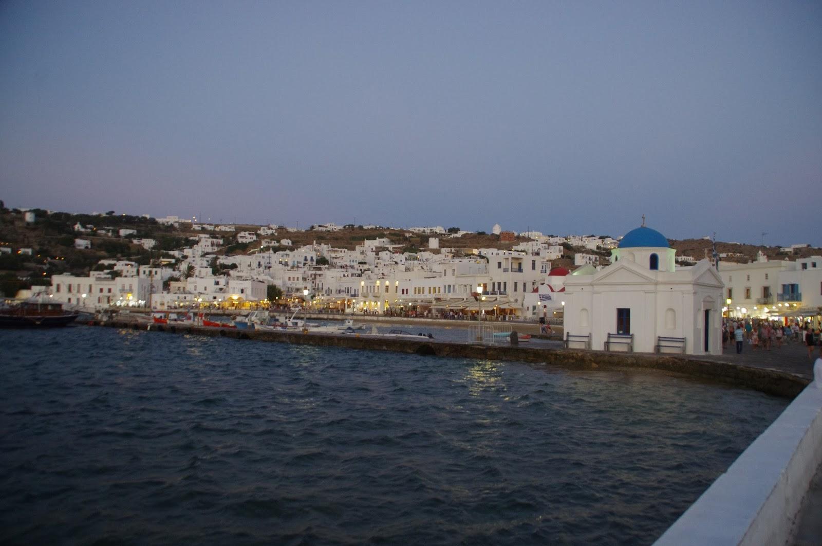 Mykonos Town from water