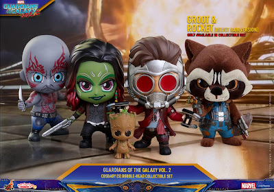 Marvel's Guardians of the Galaxy Vol. 2 Cosbaby Mini Figure Series by Hot Toys