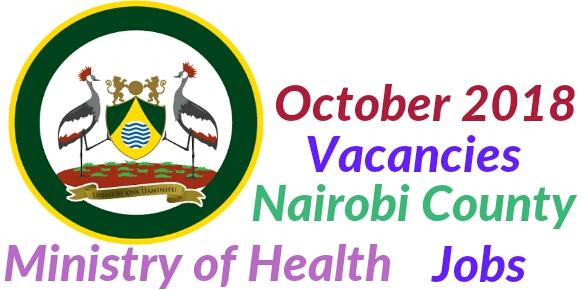 Nairobi county Oct 2018