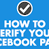 How to Verify the Facebook Page Updated 2019