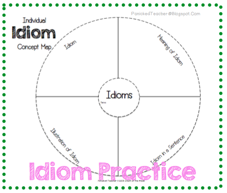 Idiom Template Lesson Idiom Lesson Teaching Idioms Idiom Lesson Plan