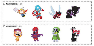 San Diego Comic-Con 2018 Exclusive Skottie Young Marvel Character Pin Series