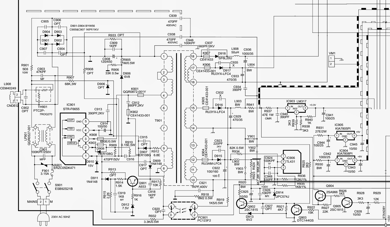 Onida Oxygen 29 Tv Smps Schematc Circuit Diagram Str F6655 3 Schematic Wiring Click On The To Magnify