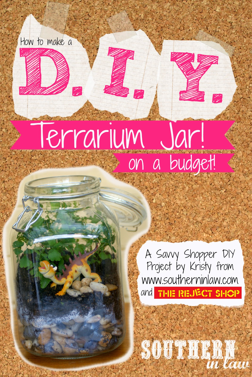 How to Make a Terrarium Jar on a Budget - Simple Weekend Projects - Dollar Store Craft Projects for Kids