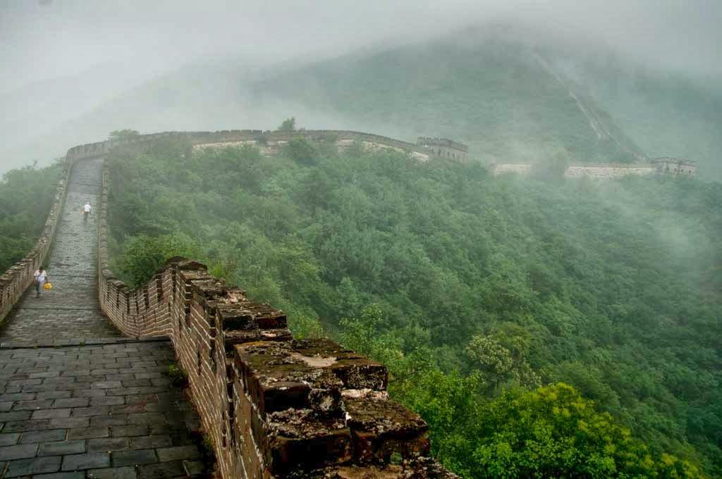 Lluvia en La Gran Muralla China