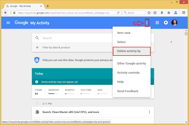 Menghapus Riwayat Pencarian Google