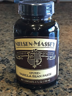 Bottle of vanilla bean paste