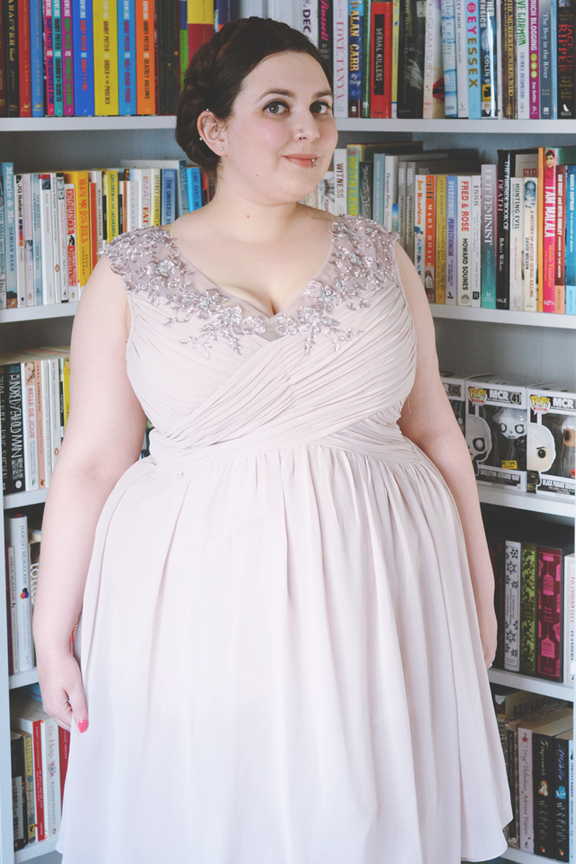 Pink plus size gown