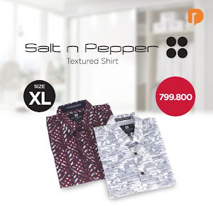 Salt N Pepper Textured Shirt Size XL (Set of 2)