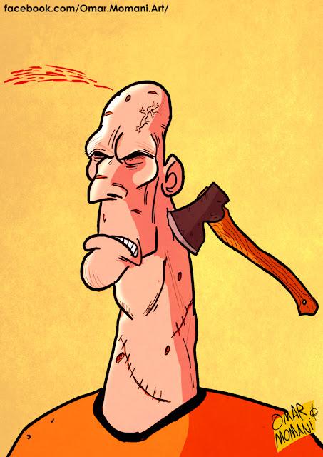 Jaap Stam cartoon caricature