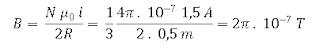 Menghitung induksi magnetik di pusat kawat melingkar