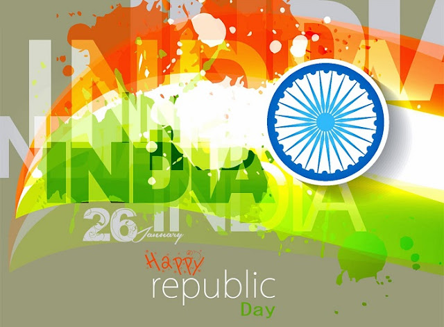 Happy 26 January Republic Day Wallpapers with Greetings and Wishes Quotes
