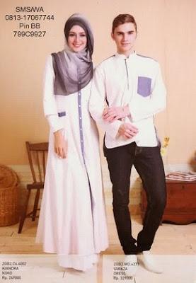 Model Baju Muslim Couple Zoya (Gamis dan KoKo) Terbaru