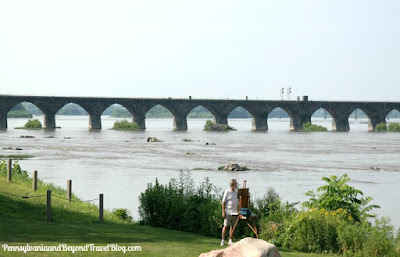 Historic Rockville Bridge in Harrisburg Pennsylvania