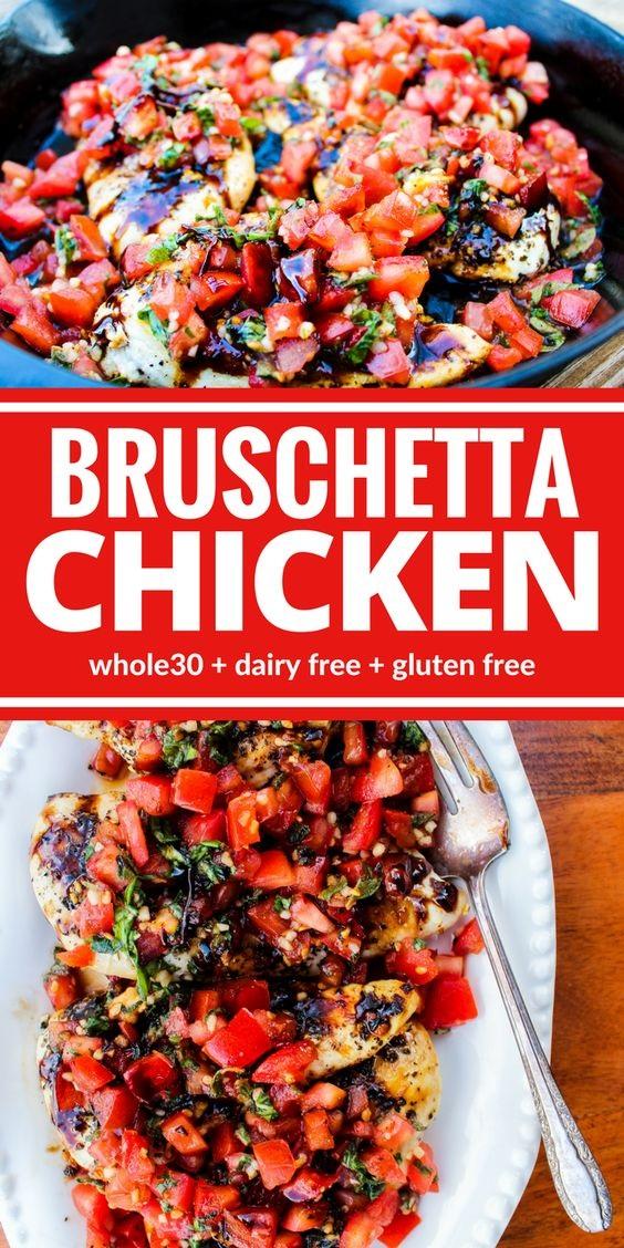Healthy Bruschetta Chicken