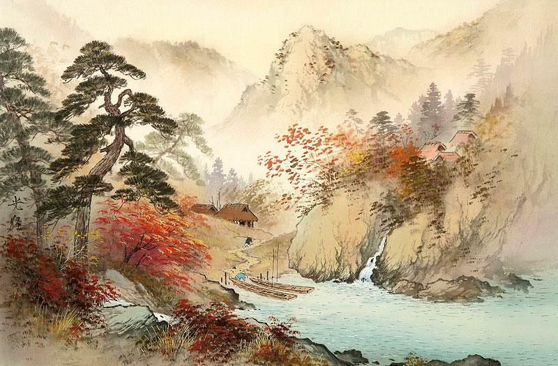 Japanese Landscape Painting Wallpaper Koukei Kojima [小島�...