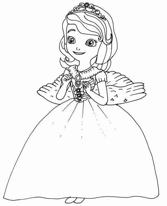 Tranh cho bé tô màu ông chúa Sofia 00