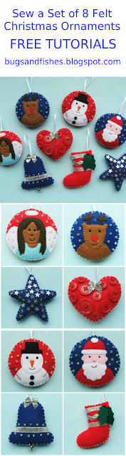 felt Christmas ornaments tutorial