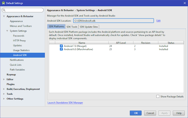 SDK Manager Android Studio