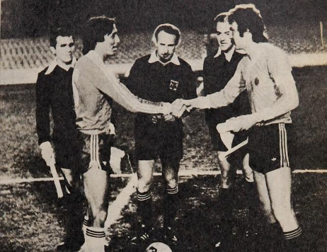 Uruguay y Chile en partido amistoso, 21 de agosto de 1980