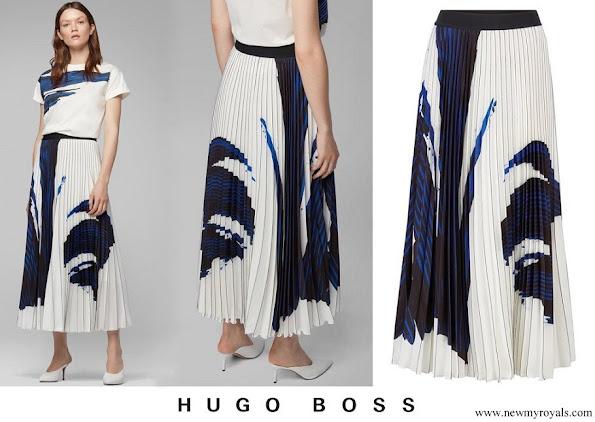 Meghan Markle wore HUGO BOSS Vesplisa skirt