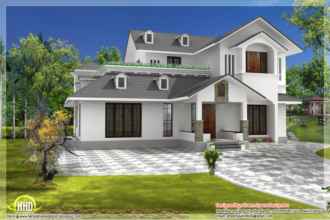 Sloping roof home with vastu shastra norms home appliance for Roof plans for house