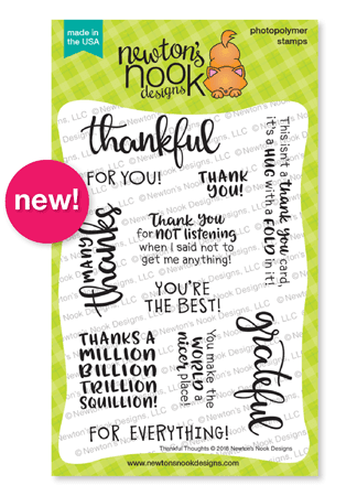 Thankful Thoughts Stamp Set by Newton's Nook Designs #newtonsnook