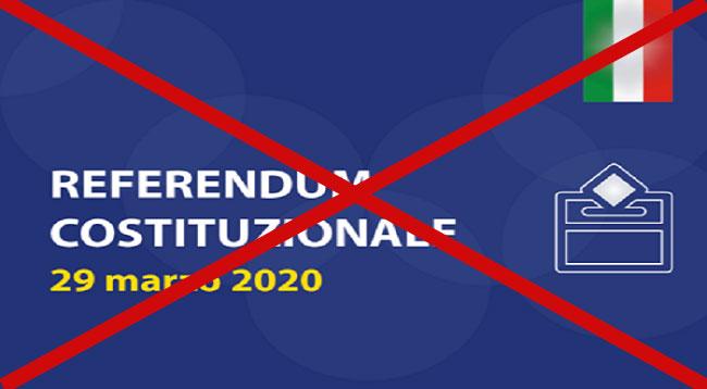 Referendum taglio parlamentari rinviato