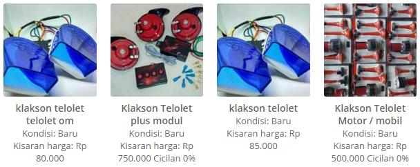 Harga Klakson Telolet Om Telolet, Klakson Plus Modul, Klakso telolet dan Klakson Telolet Motor/Mobil