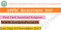 Andhra Pradesh Public Service Commission Recruitment 2017–129 Civil Assistant Surgeon