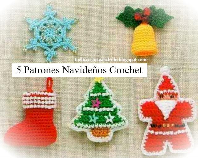 Todo crochet: 5 Patrones Crochet para Navidad