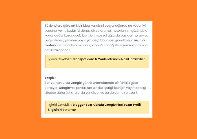 Blogger yazı içerisinde ilgili yazılar nasıl gösterilir ?