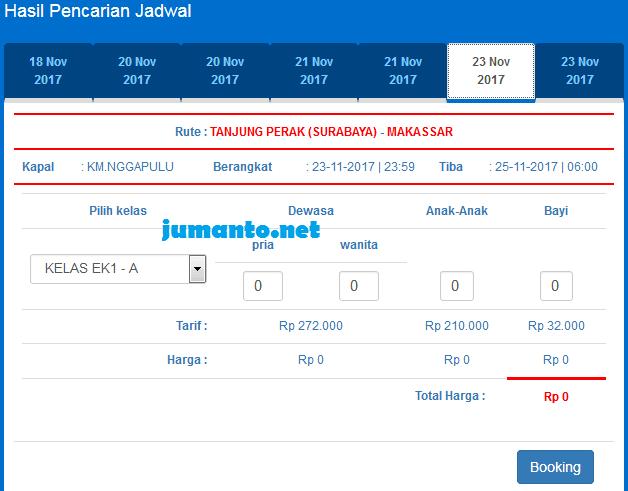 harga tiket kapal laut surabaya makassar