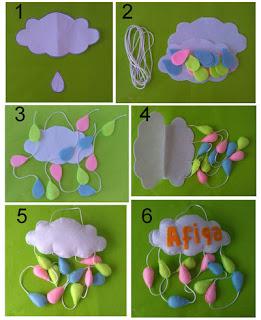 Cara membuat hanging cloud dari bahan kain flanel