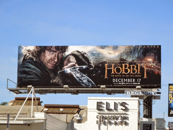 Hobbit Battle of the Five Armies Bilbo billboard