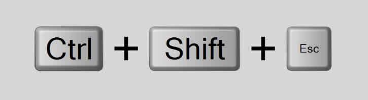 CTRL + SHIFT + ESC - Abrir gerenciador de tarefas