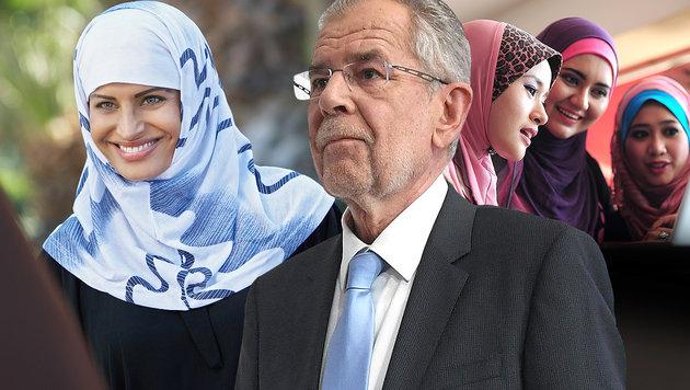 """Austrijos prezidentas siūlo austrėms """"iš solidarumo"""" nešioti hidžabus, o austrams, matomai, pasiūlys apsipjaustyti?"""