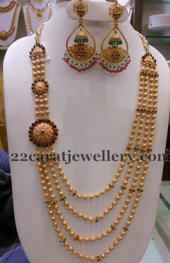 Gold Haram With Chandbalis Jewellery Designs