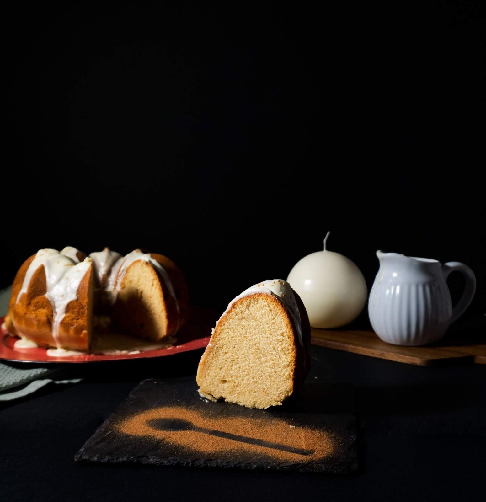 postre bundt cake de turrón para fin de año y nochevieja fácil y rápido