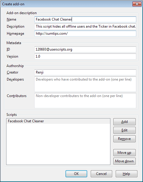 Create Firefox Add-on from a Userscript | SumTips
