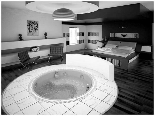 Hogares frescos la inspiraci n en blanco y negro 35 for Disenos de interiores en blanco y negro