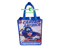 tas ultah murah, tas souvenir ultah murah, goodie bag ultah murah, souvenir ultah captain america.