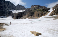 Glacier National Park is losing its glaciers as global temperatures rise. When the park was founded in 1910, it had about 150 glaciers. Today, only 26 still meet the 25-acre threshold to be called a glacier. (Credit: Jinrui Qu/CC-BY-SA-2.0) Click to Enlarge.
