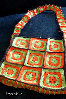 Solid Granny Square Bag