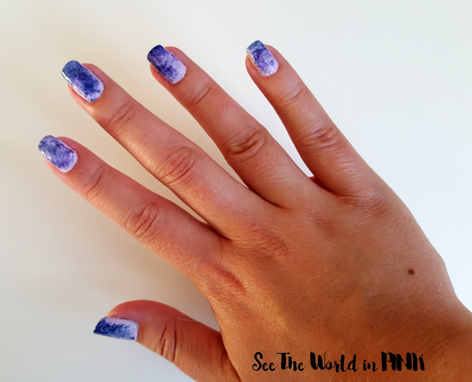 Manicure Monday - Purple Sponge Nails!